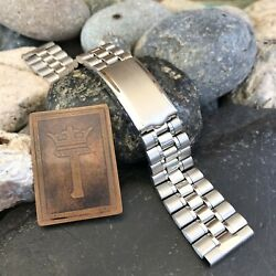 Rare Jb Champion Joske's 19mm Stainless Steel Oval Link Vintage Watch Band