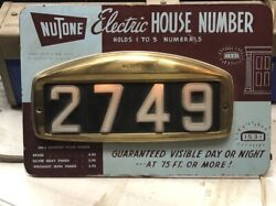 Original Vintage 1940and039s 50and039s Nutone Electric House Numbers Store Counter Display