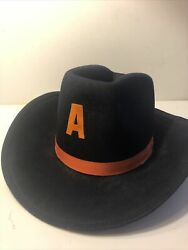 Vtg Rare Auburn University Cowboy Hat Rodeo Made In The Usa War Eagle Wool 70s