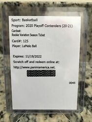 20-21 Contenders Lamelo Ball Auto Rookie Variation-on Card Signature Sp Roy