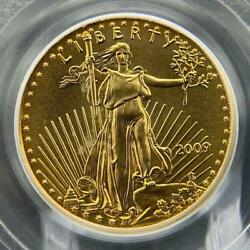 2009 Us Gold Eagle 5 Gold Coin Pcgs Ms70