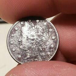 1886 Liberty Head V Nickel Corroded Fine Details