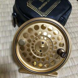 [unused] House Of Hardy The Sovereign 7/8 Gold Fly Reel With Case From Japan