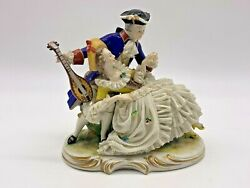 Vintage Rare Franz Witter Dresden Germany Countess And Count First Love Figurine