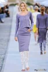 Nwt 5,810 Cruise 2012 Most Wanted Runway 2 Piece Skirt Jacket Suit 38