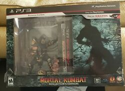 Mortal Kombat Collectors Edition Ps3 With Scorpion And Subzero Bookend Statues