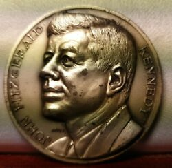 Kennedy Jfk Us Presidents Collection Scarce 50mm Medal Usa Italy Bronze