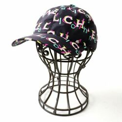 19p Women And039s With Coco Mark Button Logo Total Pattern Cap Hat No.5248
