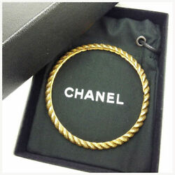 Fashion Previously Owned Bangle Accessory Vintage Gold T13507 No.5575