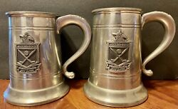 Anheuser-busch Pewter Beer Steins Mugs By Boardman. Golf Classic Logo. Lot Of 2.