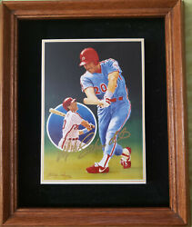 Mike Schmidt Signed 500th Home Run Porcelain Artwork - 1 Of Only 20 In The World