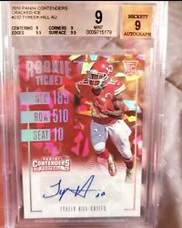 2016 Contenders Rookie Tyreek Hill Cracked Ice Auto /24 Bgs 9 9 Auto