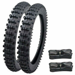 Front And Rear 90/100-16 + 70/100-19 Tire Tube For Pit Pro Crf100 Ttr125 Dirt Bike