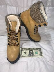 Womenand039s Natural Mia Maylynn Faux Shearling Lined Boots Gs543616 Size 9