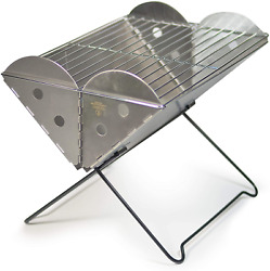 Portable Barbeque Stainless Steel Grill Smoker Fire Pit Barbeque Grill Flatpack