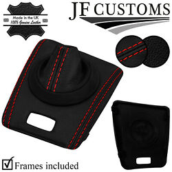 Red Stitch Leather Smg Automatic Gear + Surround Trims For Bmw E46 M3 99-05