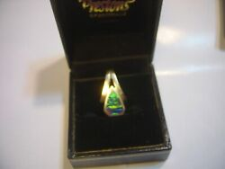 Vintage Stunning Solid Chunky 14ct Gold Pendent-magnificent Australian Opal
