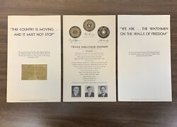 Texas Welcome Dinner Ticket And Program - Scheduled Night Of Jfkand039s Assassination
