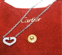 Authentic New Metal Fitting Heart Diamond Wg Necklace No.5766