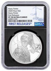 2020 Niue Silver 2 - Harry Potter Characters - Harry Potter Pf70 Uc Fr Ngc Coin
