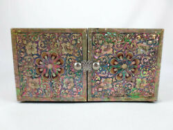 Korean Najeon Chilgi Lacquered Mother Of Pearl Abalone Shell Inlay Jewelry Box