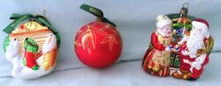 Lot Of Three Waterford Holiday Heirlooms Christmas Ornaments