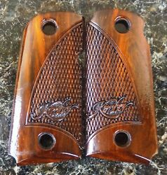 Kimber Micro 9mm Grips Made With Cocobolo Root Wood Really Nice Logo F-16 L@@k