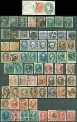 Us Small Lot Of Used 19th Century Stamps, Better Are 73 68 115 116, Scv 2485