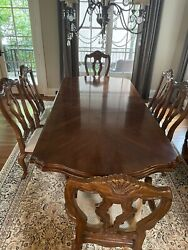 Bernhardt Tuscan 7 Piece Dining Room Set. Dining Table With Extension
