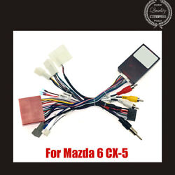 Car 16pin Audio Wiring Harness W/canbus Box For Mazda 6 Cx-5 Stereo Wire Adapter