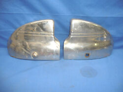Pair Of 1941 Chevy Front Bumper Fender Wrap Arounds Wingtip Guards B