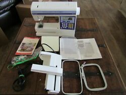 Viking Husqvarna Iris Sewing Embroidery Quilting Sewing Machine W/extras