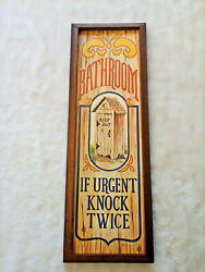 Vintage Bathroom Outhouse Sign Americana Decorative Wall Plaques Wallace Berrie