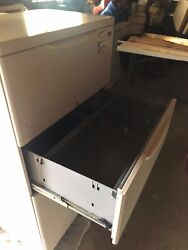 4 Drawer Metal File Cabinet In Very Good Condition.