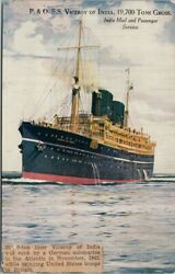 Ss 'viceroy Of India' Ship Sunk 1942 Newspaper Article Stuck On Postcard E81
