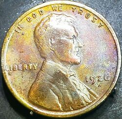 1926 D Lincoln Wheat Penny Cent Beautiful Toning