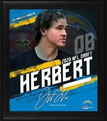 Justin Herbert Los Angeles Chargers Framed 15 X 17 2020 Nfl Draft