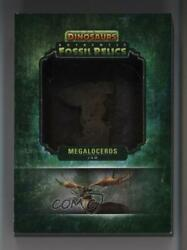 2015 Upper Deck Dinosaurs Authentic Fossil Relic Redemptions Megaloceros Jaw P1l