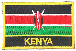 Kenya Brodandeacute Coudre Ou Patch Thermocollant Badge