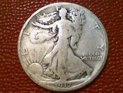 The Joy Of Coin Collecting1917 P Walking Liberty Half Dollar Silver Old 1690