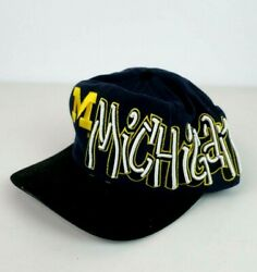 Vtg Top Of The World Michigan Wolverines Spell Out Hat Retro Rare Ncaa Graffiti