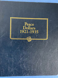 Complete 1921-1935 Year/mint Peace Silver Dollar Set 24 Coins