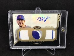 2018 Tier One Kris Bryant Game Used Rc Triple Patch Auto Mlb 1/1 Es