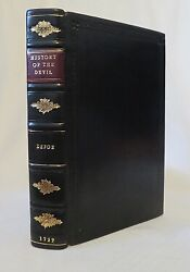 Daniel Defoe / The History Of The Devil Andc 1727 2nd Edition