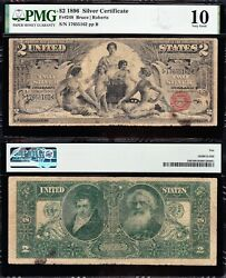 1896 2 Educational Silver Certificate Pmg 10 Free Shipping 17655162