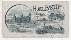 1890 Graphic Trade Card For The Hotel Bartlett Long Beach New York