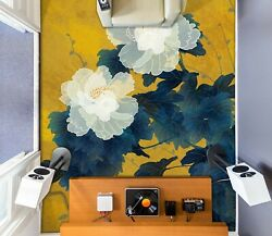 3d White Lotus Ske1723 Floor Wall Paper Wall Print Decal Wall Deco Bea