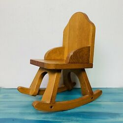 Vintage Wooden Rocking Chair Bears Dolls Wood Doll Chair Belgamer Farms Ny Usa