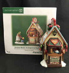 Dept 56 Alpine Village Series Christmas Market The Gingerbread Booth W Box As Is