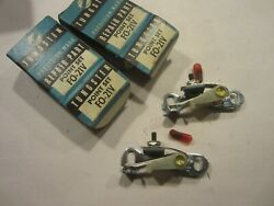 1952 - 1974 Ford Lincoln Mustang Mercury Boss Cj Ignition Contacts 2 Pcs